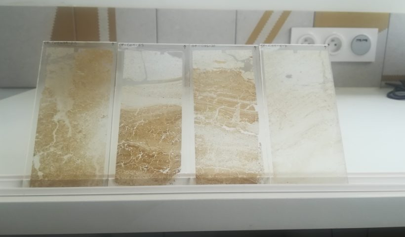 Alluvial sediments thin sections