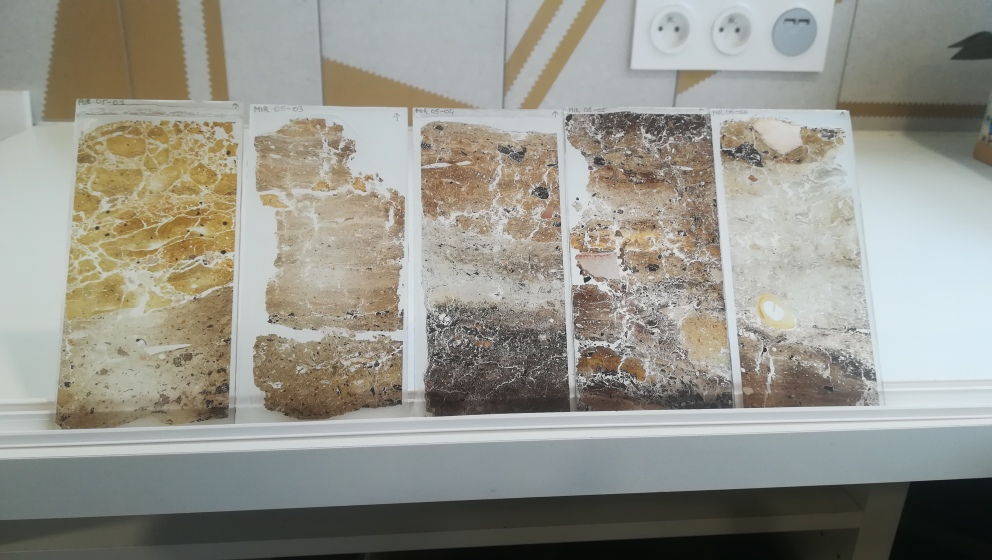Thin sections from a Spanish rock shelter