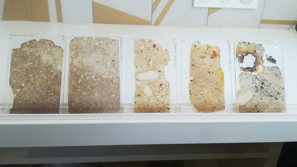 Thin sections from walls