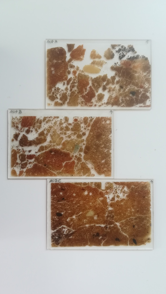 Thin sections from a Neolithic furnace in Jordan